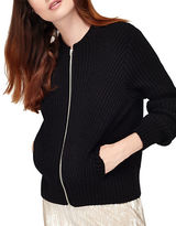 Miss Selfridge Rib-Knit Bomber Jacket