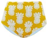 La DoubleJ High-rise Pineapple-print Bikini Briefs - Womens - Yellow Print