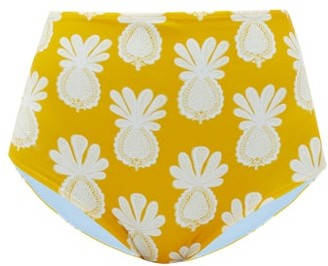 La DoubleJ High-rise Pineapple-print Bikini Briefs - Yellow Print
