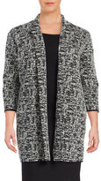 Context Plus Textured Open Front Jacket