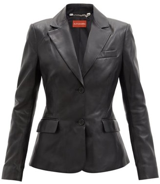 Altuzarra Egan Single-breasted Leather Blazer - Black