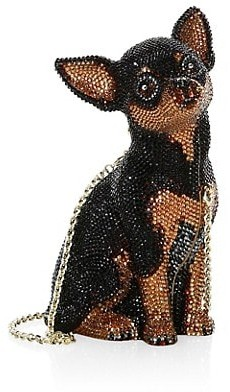 Judith Leiber Mickie Crystal Chihuahua Chain Clutch