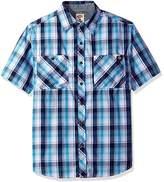 Dickies Men's Short Sleeve Wrinkle Resistant Single Pocket Plaid Shirt