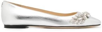 Jimmy Choo Mirele crystal-embellished ballerina shoes