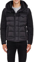 Moncler Men's Quilted Tech Jacket-BLACK
