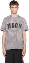 MSGM Grey Marbled Logo T-shirt