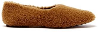 Fur Deluxe - Shearling Ballet Flats - Tan