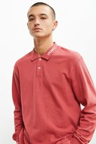 Stussy Pique Long Sleeve Polo Shirt