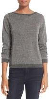 Equipment Women's 'Calais' V-Back Metallic Wool Blend Sweater