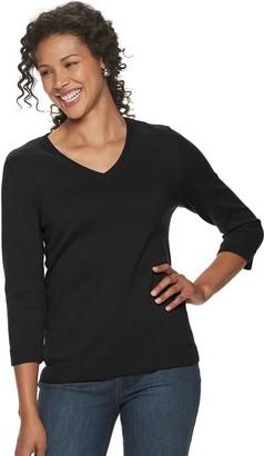 Croft & Barrow Women's V-Neck Sweater