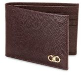 Salvatore Ferragamo Ten-Forty One Pebbled Calfskin Bifold Wallet