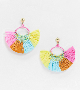 South Beach Exclusive tassel earrings in summer brights
