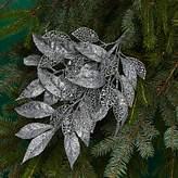 Bloomingdale's Glitter Silver Leaf Spray Tree Pick - 100% Exclusive