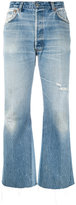 RE/DONE inner panel cropped jeans - women - Cotton - 28