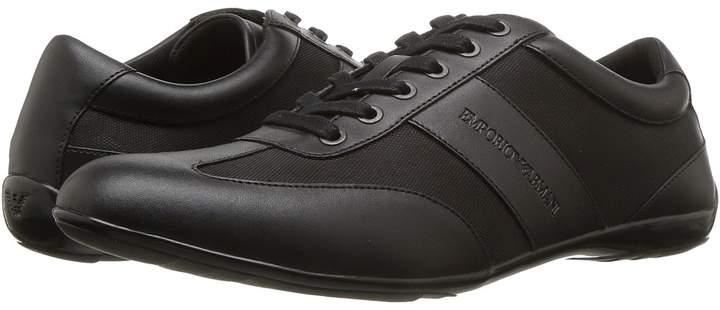 Emporio Armani Leather/Nylon Sneaker Men's Shoes