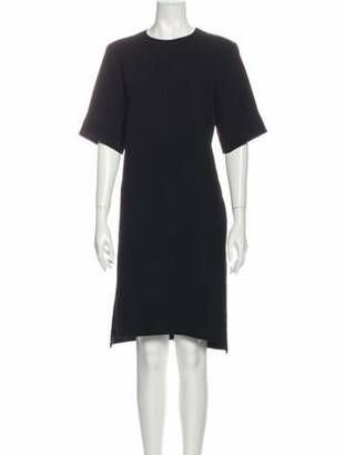 Celine Crew Neck Midi Length Dress Black