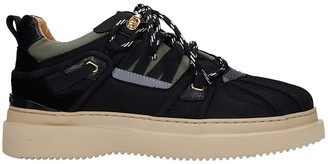 Buscemi Low Boot Dunk Sneakers In Black Suede