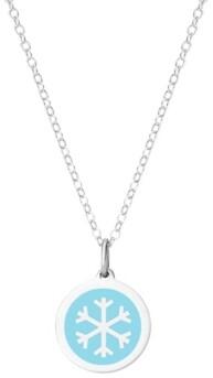 Auburn Jewelry Mini Snowflake Necklace in Sterling Silver