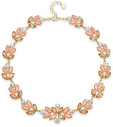 Charter Club Gold-Tone Crystal Cluster All-Around Collar Necklace, Created for Macy's