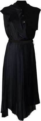 Sacai Asymmetric Pleated Dress