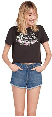 Volcom Pocket Dial Tee (Black) Women's T Shirt
