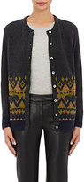 Barneys New York Women's Wool-Blend Cardigan Sweater-DARK GREY