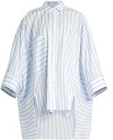 Palmer Harding PALMER/HARDING Poet patch-pocket striped shirt