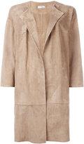 Desa Collection - oversized coat - women - Cotton/Suede - 44