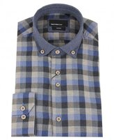 Remus Contrast Detail Check Shirt
