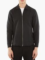 Our Legacy Black Linen-Blend Zip Shirt