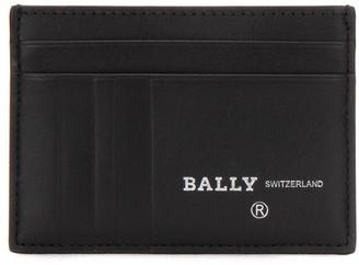 Bally Stripe Embossed Logo Card Holder