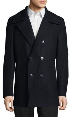 Calvin Klein Wool-Blend Double Breasted Peacoat