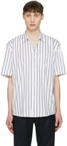 Our Legacy White Striped Initial Shirt