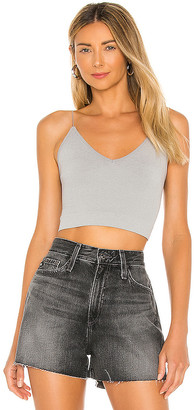Free People Ribbed V Neck Brami Tank