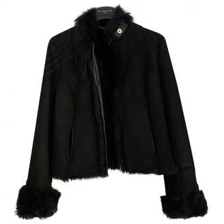 John Richmond Black Fur Coat for Women