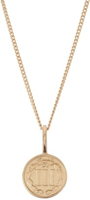 Katie Mullally American Coin Necklace In Rose Gold Plate