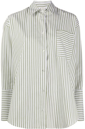 Danielapi Oversized Striped Print Shirt