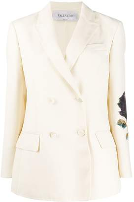 Valentino x Undercover double-breasted Cosmos patch blazer