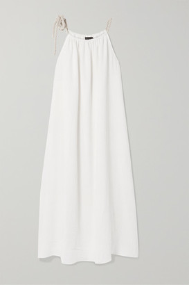 Hatch The Sienna Cotton-seersucker Maxi Dress - White