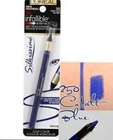 L'Oreal Paris Infallible Silkissime Eyeliner - 250 Cobalt Blue (Pack of 2)