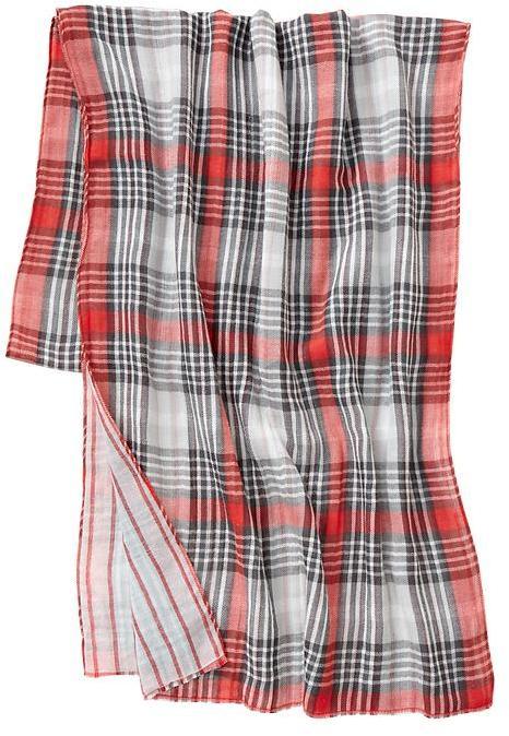 Gap Reversible plaid scarf