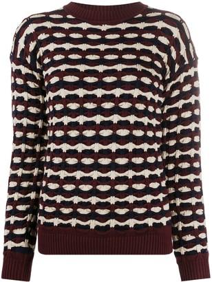 Victoria Victoria Beckham Geometric-Knit Sweater