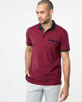 Le Château Stripe Cotton Polo Top