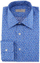 Canali Mini-Floral Cotton Dress Shirt