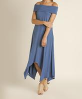 Blu Heaven Denim Off-Shoulder Handkerchief Dress