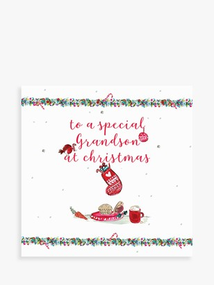 Laura Sherratt Designs Stocking Grandson Christmas Card