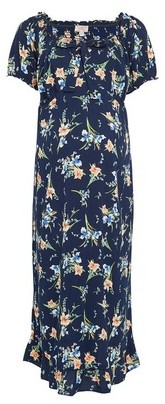 Dorothy Perkins Womens Dp Maternity Blue Floral Print Circle Dress, Blue
