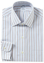 Brooks Brothers Non-Iron Regent Fit Fitted Striped Classic-Fit Spread Collar Dress Shirt