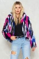Nasty Gal Feelin' This Faux Fur Jacket