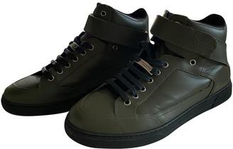 Saint Laurent Khaki Leather Trainers